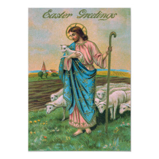 "Jesus Christ Lamb Shepherd 5"" X 7"" Invitation Card"