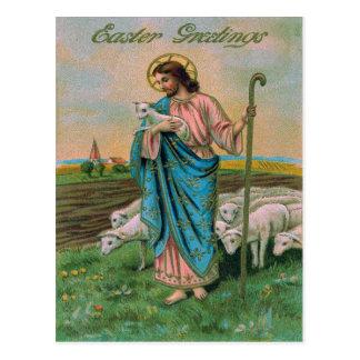 Jesus Christ Lamb Shepherd Postcard