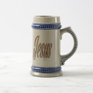Jesus Christ Messiah Religion Divine Holy God Beer Stein