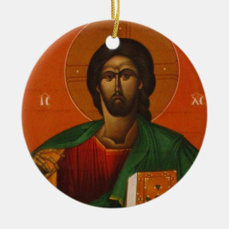 Jesus Christ Orthodox Christian Icon Ceramic Ornament