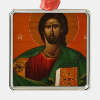 Jesus Christ Orthodox Christian Icon Metal Ornament