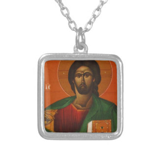Jesus Christ Orthodox Christian Icon Silver Plated Necklace