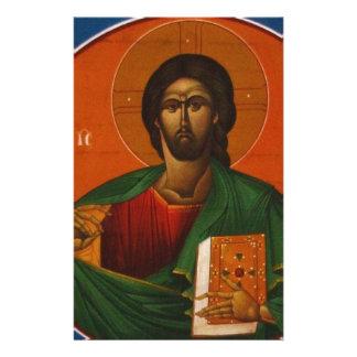 Jesus Christ Orthodox Christian Icon Stationery