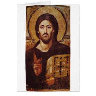 Jesus Christ Pantocrator Christian Icon Card