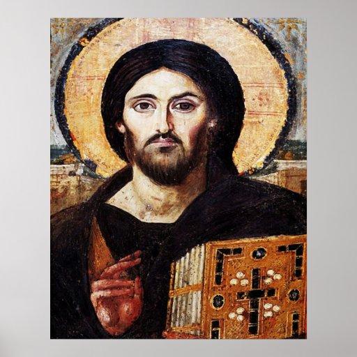 Jesus Christ Pantocrator Icon Poster