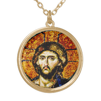 Jesus Christ, Pantocreator Gold Plated Necklace