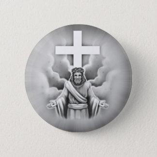 Jesus Christ Resurrection Cross Design 2 Inch Round Button