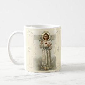 Jesus Christ Sacred Heart Cross Coffee Mug