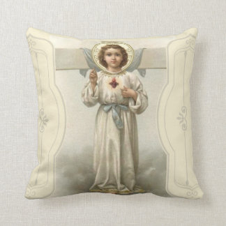 Jesus Christ Sacred Heart Cross Throw Pillow