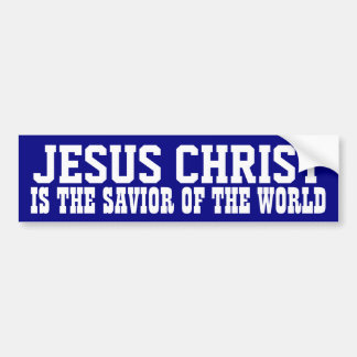 Jesus Christ: Savior Bumper Sticker