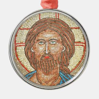 Jesus Christ Silver-Colored Round Ornament