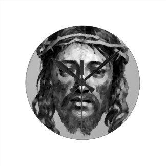 Jesus Christ Th Messiah Christian Art Round Clock