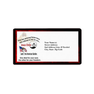 Jesus Christ & the American Soldier Custom Address Label