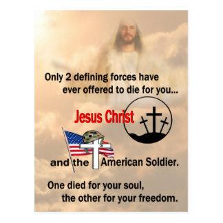 Jesus Christ & the American Soldier Postcard