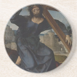 Jesus Christ With Cross Coaster