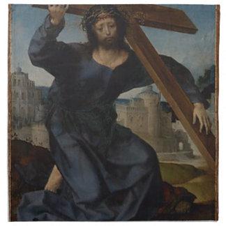 Jesus Christ With Cross Napkin