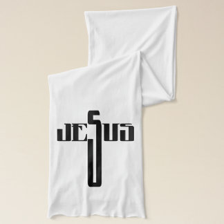 Jesus Christian White Jersey Scarf