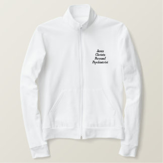 Jesus Christs Personel Psychiatrist Embroidered Jacket