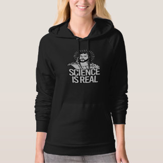 Jesus Concurs - Science is Real - white - - Pro-Sc Hoodie