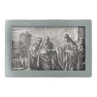 Jesus Confronts 12 Apostles Belt Buckles