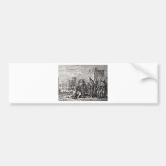 Jesus Confronts 12 Apostles Bumper Sticker