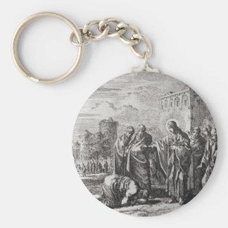 Jesus Confronts 12 Apostles Keychain