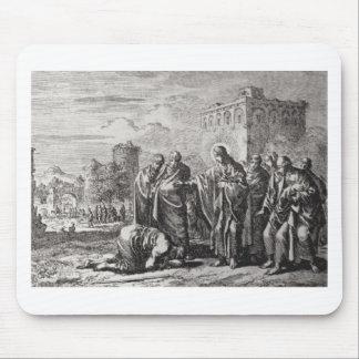 Jesus Confronts 12 Apostles Mouse Pad
