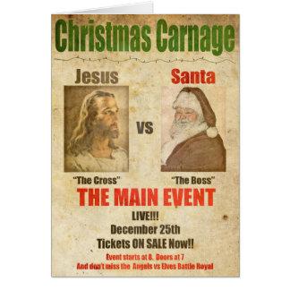 Jésus contre Père Noël Carte De Vœux