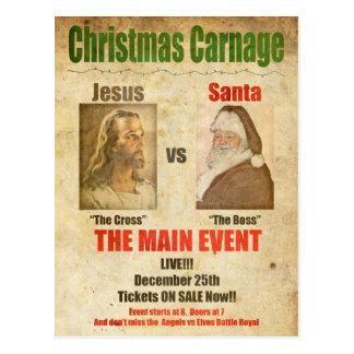 Jésus contre Père Noël Cartes Postales