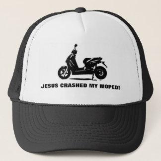 JESUS CRASHED MY MOPED! TRUCKER HAT