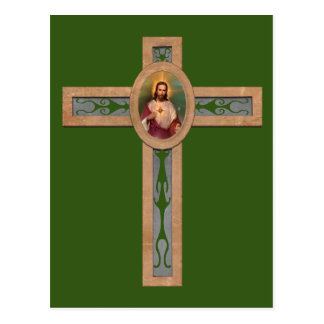 Jesus cross postcard