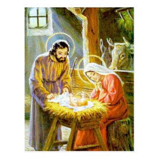 Jésus dans la nativité de Noël de Manger Carte Postale