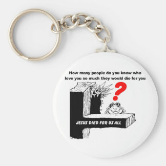 JESUS DIED FOR US ALL KEYCHAIN