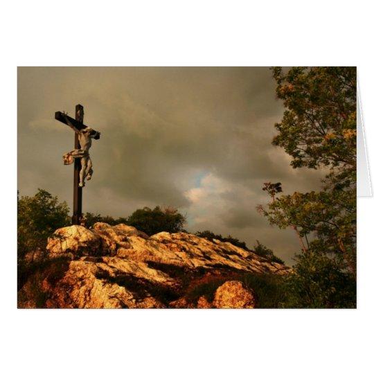 Jesus Died on the Cross Card