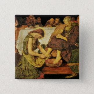 Jesus  Disciple's Feet 2 Inch Square Button