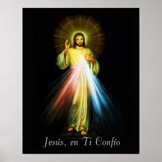 Jesus Divina Misericordia Poster Spanish - Espanol
