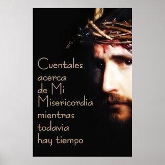 Jesus Divina Misericordia Spanish Espanol Poster