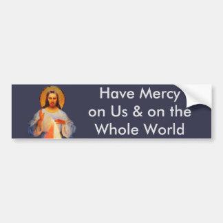 Jesus Divine Mercy Bumper Sticker