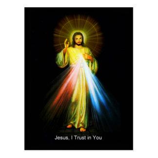 Jesus Divine Mercy Catholic Postcard