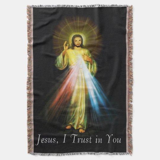 Jesus Divine Mercy Tapiz Throw Blanket