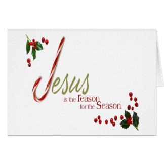 Jésus est la carte de voeux de Noël de raison