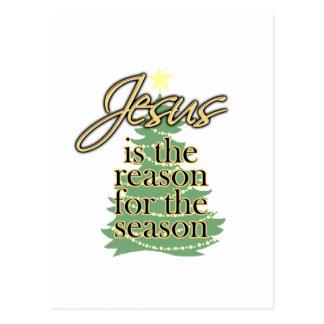 Jésus est la raison de la saison Noël Cartes Postales