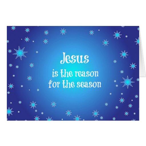 Jésus est la raison de Noël de saison Carte De Vœux