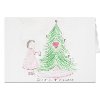 Jésus est le coeur de Noël Carte De Vœux