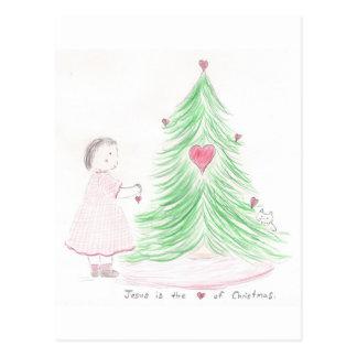 Jésus est le coeur de Noël Cartes Postales