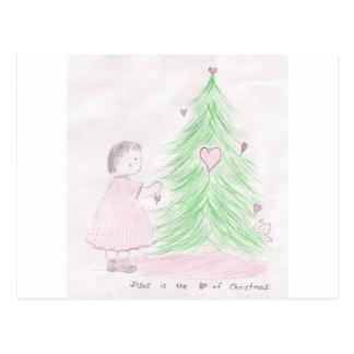 Jésus est le coeur de Noël Carte Postale