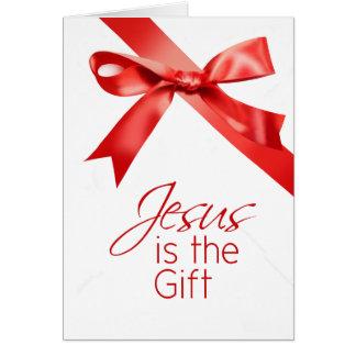 Jésus est Noël de cadeau Carte De Vœux