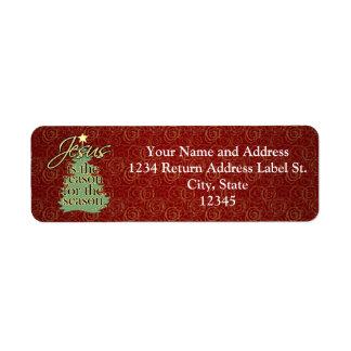 Jésus est Noël de chrétien de raison Étiquettes D'adresse Retour