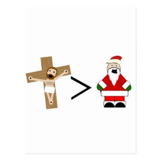 Jésus est plus grand que Père Noël Carte Postale