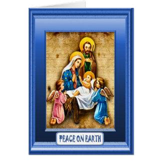 Jésus et les enfants carte de vœux